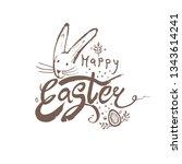 happy easter brush hand... | Shutterstock .eps vector #1343614241