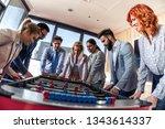 business people having great... | Shutterstock . vector #1343614337