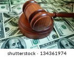 Closeup Of A Legal Gavel On Us...