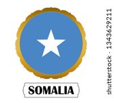 flag of somalia with name icon  ... | Shutterstock .eps vector #1343629211