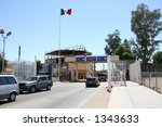 the usa mexican border at... | Shutterstock . vector #1343633