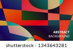modern geometric abstract... | Shutterstock .eps vector #1343643281