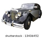 1949 automobile isolated with... | Shutterstock . vector #13436452