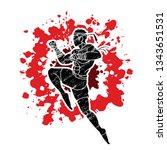 muay thai fighting   thai...   Shutterstock .eps vector #1343651531