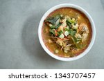 tom yum goong or spicy tom yum... | Shutterstock . vector #1343707457