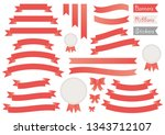 vector set of banners  ribbons  ... | Shutterstock .eps vector #1343712107