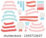vector set of banners  ribbons  ... | Shutterstock .eps vector #1343713637