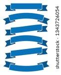 set of blue ribbon banner icon... | Shutterstock .eps vector #1343726054