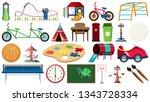 set of children playground tool ... | Shutterstock .eps vector #1343728334