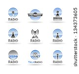 set of radio station icons. vol ... | Shutterstock .eps vector #134373605