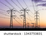 Electricity pylons during dusk...