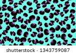 leopard print. animal skin... | Shutterstock .eps vector #1343759087