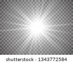 abstract golden front sun lens... | Shutterstock .eps vector #1343772584