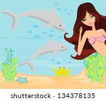 illustration of a beautiful... | Shutterstock .eps vector #134378135