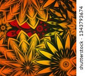 seamless floral background. the ... | Shutterstock .eps vector #1343793674