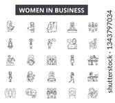 women in business line icons... | Shutterstock .eps vector #1343797034