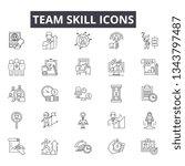 team skill line icons for web... | Shutterstock .eps vector #1343797487