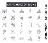 chiropractor line icons for web ... | Shutterstock .eps vector #1343803001