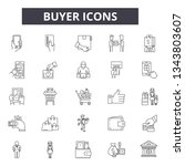 buyer line icons for web and... | Shutterstock .eps vector #1343803607