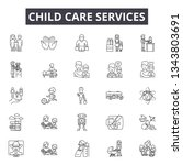 child care services line icons... | Shutterstock .eps vector #1343803691