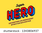 comics style font design ... | Shutterstock .eps vector #1343806937