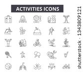 activities line icons. editable ... | Shutterstock .eps vector #1343809121