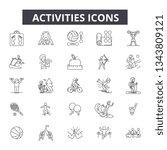 activities line icons. editable ... | Shutterstock .eps vector #1343809121