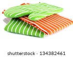 potholder and two tea towels... | Shutterstock . vector #134382461