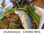 Stock photo nam prik pla tu thai traditional dish thai food chili dip chili paste 1343827841