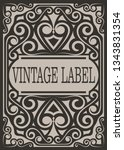 frame border vintage label or... | Shutterstock .eps vector #1343831354