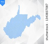 abstract graphic west virginia... | Shutterstock .eps vector #1343837087