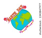 planet earth with text and... | Shutterstock .eps vector #1343847977