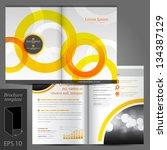 vector white brochure template... | Shutterstock .eps vector #134387129