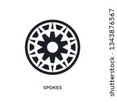 spokes isolated icon. simple element illustration from sew concept icons. spokes editable logo sign symbol design on white background. can be use for web and mobile