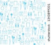 blue on white seamless pattern...   Shutterstock .eps vector #1343899331