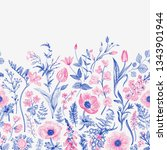spring magic. seamless border.... | Shutterstock .eps vector #1343901944