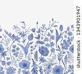 spring magic. seamless border.... | Shutterstock .eps vector #1343901947