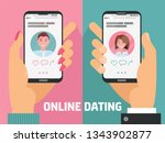male and female hands with... | Shutterstock .eps vector #1343902877