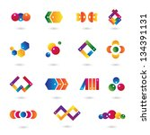 business icons   set   isolated ... | Shutterstock .eps vector #134391131