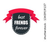 ribbon award with text best... | Shutterstock .eps vector #1343919137