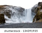 The Skogafoss Waterfall In...