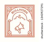 bullhorn icon concept | Shutterstock .eps vector #1343927291