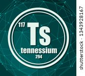 tennessium chemical element.... | Shutterstock .eps vector #1343928167