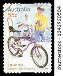 australia   circa 2009  a stamp ... | Shutterstock . vector #1343930504