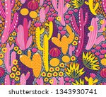 vector seamless pattern with... | Shutterstock .eps vector #1343930741