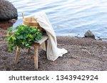 bathing equipment on sauna...   Shutterstock . vector #1343942924