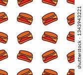 pattern of vector illustrations ...   Shutterstock .eps vector #1343943221