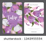 blooming beautiful purple with...   Shutterstock .eps vector #1343955554