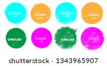 grunge post stamps collection ... | Shutterstock .eps vector #1343965907