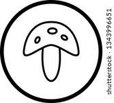 illustration  mushroom icon  | Shutterstock . vector #1343996651